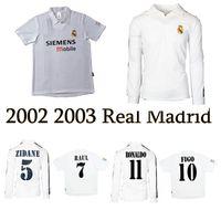 Wholesale ronaldo real madrid jersey resale online - 2001 real Madrid Centenary home soccer jersey ZIDANE FIGO HIERRO RONALDO RAUL classic retro football shirt vintage jersey