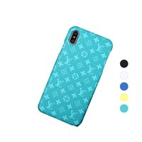 Wholesale iphone back case top resale online - Designer Luxury Phone Case Top quality for Iphone XR XS Max Plus PU Leather Brand Protect Back Cover For Samsung S10 S10plus Phone Cover