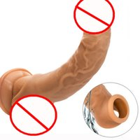 bdsm ball strecke groihandel-Silikon Bdsm Sm Sexspielzeug Penisvergrößerung Mantel Penis Erhöhungsverlängerungshülsen für Erwachsene Intimwaren wiederverwendbares Sex Produkt