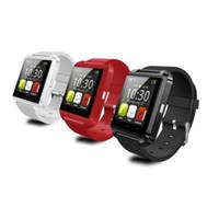 u8 smart watch box оптовых-Умные часы U8 Smartwatch U часы для iOS iPhone Samsung телефоны Sony Huawei Android в подарочной коробке Горячие продажи