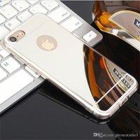 verchromt iphone großhandel-Klar spiegel fall galvanik chrom ultradünne weiche tpu telefon case überzug rückseitige abdeckung für iphone 6 7 8 plus xs x max überzug phone case