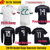 Wholesale mexico jersey red resale online - 19 Mexico Jersey RAUL Mexico Away Kit Fans Player Version CHICHARITO Soccer Jerseys CARLOS V H LOZANO Football Shirt