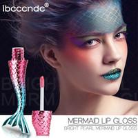 láseres brillantes al por mayor-20 colores / 20 unids / lote cristal líquido brillo sirena brillo labial láser holográfico labio tatuaje maquillaje sirena pigmento brillo brillo labial