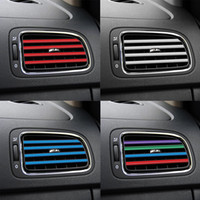 tiras cromadas al por mayor-10 piezas / juego Forma acondicionador de aire de salida Rejilla decoración DIY T Chrome Styling Moldeo coche Salida de aire tira de ajuste del coche-estilo