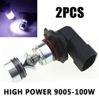 1Pair 9005 HB3 9145 H10 100W LED Fog Light 6000K White High Brightness Driving Light Bulb for Car Lighting