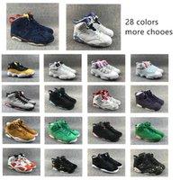 sapatas dos homens do verde escuro venda por atacado-2019 Preto Infrared 6 6 s Sapatos de Basquete dos homens CNY Carmine Gatorade Verde Tinker UNC Gato Preto Sapatos Formadores tênis US 5-13