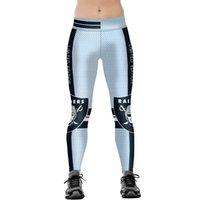ingrosso xxxl più i pantaloni di yoga di formato-S-4XL Plus Size pantaloni a vita alta di yoga per l'esecuzione di donne Squadre Leggings Partita Raider Leggings Sport Elastic Gym Fitness