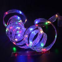 navidad lámpara batería cálido blanco al por mayor-Caliente 4 M 40LED Navidad vacaciones luz LED alimentado por batería Cinta Led String Lights RGB blanco cálido para Home Garden Party lámpara de decoración de regalos