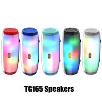 Wholesale music box flash player for sale - Group buy TG165 Bluetooth Speaker LED Flash Portable Audio Player Stereo Sound HIFI Subwoofer Deep Bass Speaker mAh Music Box