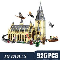 Wholesale building toys for girls resale online - 926PCS Small Building Blocks Toys Compatible with Legoe Hogwart Harri Potters Magic Great Hall Castle Gift for girls boys children DIY
