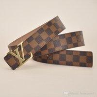 casquillos de jason al por mayor-marca de moda los hombres y mujeres de la correa letras de oro la hebilla del cinturón de la marca de 3,8 cm de ancho cinturón clásico entrega rápida