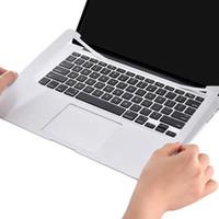 dizüstü film koruyucuları toptan satış-Palmrest Kapak Koruyucu Film çizilmez Bilek Trackpad Yalıtımlı Ekran Koruyucu Macbook Hava Pro Için Ince Ped Dizüstü Cilt