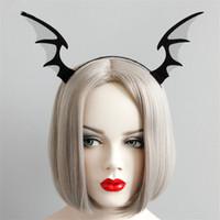 şeytan cosplay toptan satış-Festivali Cosplay Elf Şeytan Horn Saç Çemberler Seksi Konak Parti Saç Aksesuarları Cadılar Bayramı Noel Hayalet 135