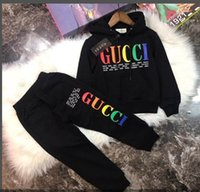 Wholesale winter flowers resale online - new Graffiti Baby Clothing Set Children s Clothing Autumn and Winter New Boys and Girls Sweater Set Children s Jacket Clothes h8