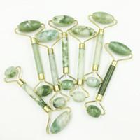 Natural Jade Roller Massager Facial Deauty Natural Jade Face Massage Deauty Device