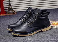 sapatas rápidas livres do transporte venda por atacado-2018 outono e inverno novas botas Martin homens além de veludo mens sapatos de algodão interior botas altas, sapatos masculinos por atacado frete grátis entrega rápida