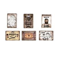 Wholesale vintage clean for sale - Group buy Hairstyle Barber Shop Metal Sign Plate retro metal tin Poster Pub Cafe Bar Club Garage Car Station Vintage Wall Decor Haircut Clean Fashion