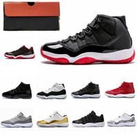 jam box novo venda por atacado-Com Box 11 Space Jam nova Bred 45 novos Concord Basquete Calçados Homens Mulheres Sapatos 11s vermelho Marinha Gamma azul 72-10 Sapatilhas