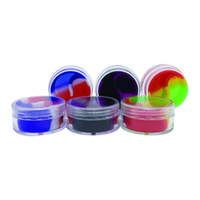 Wholesale acrylic tableware resale online - Screw Top Acrylic Concentrate Containers With A Silicone Interior Ml Nonstick Storage Jar MOQ Pieces