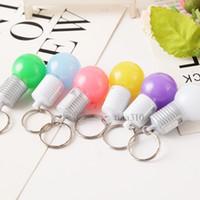 ingrosso pacchetti promozionali-Nuova catena chiave della lampadina Catena chiave del LED, pendente del pacchetto delle luci della decorazione del partito Regali promozionali T2C5033
