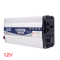 ingrosso trasformatore di protezione-600W 1000W display a LED Converter Portable Surge trasformatore di alimentazione auto protezione onda sinusoidale pura Power Inverter 12V 24V a 220V