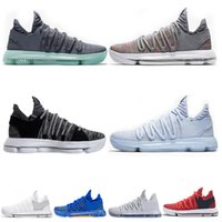 Wholesale kevin durant high shoe resale online - Quality High Kd Kevin Durant Men Basketball Shoes Oreo Bhm White Black Numbers Anniversary Stucco Igloo Multi Color X Sports Sneaker