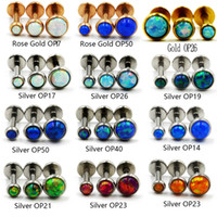 Wholesale tragus labret studs for sale - Group buy 1Pcs g Internal Thread Opal Stone Labret Monroe Lip Stud Ring Opal Ear Cartilage Tragus Helix Earring Piercing Body Jewelry
