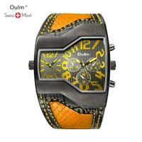 нержавеющая сталь оптовых-Oulm Men's Watches Stainless Steel Mesh Strap Black Wrist Watch Business Creative Square Watches Male Clocks Relogio Masculino