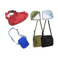 paquete de cintura al por mayor-Bolso de la cintura del diseñador Embalaje de regalo 19ss 46th 18SS 3M 44th Fashion Unisex Fanny Pack Cintura de la moda Lienzo de viaje Cinturón Bolsa Hombres Bolso de hombro