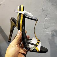 ingrosso sandali con tacco-luxury designer Classic Sandali Lady Summer 2019 Designer's Luxury dsigner Sandali di marca taglie forti sexy con tacco alto da donna
