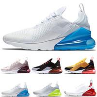 mavi fotoğraf toptan satış-2019 Fotoğraf Mavi Erkek Kadın Koşu Ayakkabıları Üçlü Beyaz Üniversitesi Kırmızı Zeytin Volt Habanero Flair Tasarımcı Erkekler Sneakers 36-46