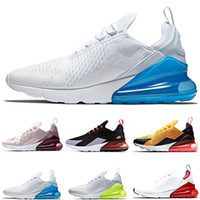 ingrosso scarpe bianche rosse-2019 Photo Blue Uomo Donna Running Shoes Triple White Università Red Olive Volt Habanero Flair Designer uomo Sneakers 36-46