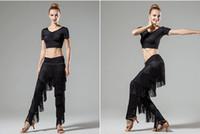 damen ballsaal latin kleid großhandel-Damen Erwachsene Modern Dance Rock Hosen mit Fransen Hosen Latin Dance New Fringe Dress Latin Dress Ballsaal
