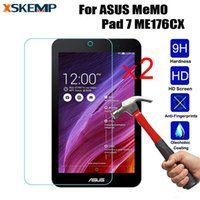 защитная пленка для памятки оптовых-XSKEMP 2Pcs/Lot Anti-Explosion Glossy Tempered Glass For ASUS MeMO Pad 7 ME176CX Tablet Screen Protector Protective Film Guard