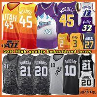 ingrosso pullover di pallacanestro tim duncan-Donovan 45 Mitchell Jersey NCAA John Stockton 12 3 Rubio Gobert Malone Tim Duncan 21 20 Ginobili Mens Basketball Maglie