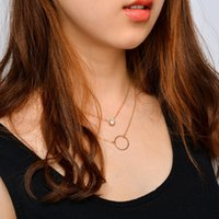 Wholesale rhinestone bib necklace sets for sale - Group buy Ingemark Fashion Neck Chain Small Rhinestone Pendant Choker Necklace Sets Bib Retro Vintage Classic Charm Women Jewelry