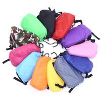 Wholesale sleeping beds for sale - Group buy Outdoor camping Inflatable sofa Lazy bag Sleeping Air Bag Camping Portable Air Sofa Beach Bed Hammock Nylon Banana