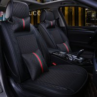 Wholesale black car seats resale online - New Luxury leather Universal car seat cover for honda accord honda civic crv jazz fit city Car seat protect set
