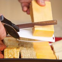 Wholesale cheese shredder resale online - Kitchen Clever Smart Cutter in Knife Cutting Board Scissors Accessories Food Cheese Meat Vegetable Stainless Steel Cutter