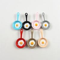 ingrosso uovo di smalto-10Pcs Omelette Sun Egg in Mini Coloful Pan Shape Cute Little Smalto GraceAngie Mix Multicolor Egg In Padelle Creative Baby Jewelry
