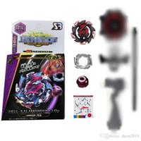 aperto de mão beyblade venda por atacado-B113 Beyblade Brinquedo de Metal Fiação Spinning Top Brinquedos Burst Beyblade STARTER w / Lançador B-113 + Aperto de Mão + Lançador BB837C-1