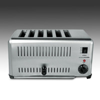 High Quality Commercial Full Automatic 6 Slices Toaster Bread Toast Machine For Breakfast