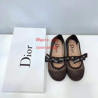 детские туфельки оптовых-2019 Детская обувь Baby Girl черный лук балета с плоской сеткой точка дети спортивные детские кроссовки Повседневная мода детская обувь до-1