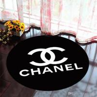 bad slip großhandel-Luxus Design Brief Muster Freihand Logo Anti-Rutsch-Teppich New Home Decor Fußmatte Küche Badezimmer Wohnzimmer Bodenmatte Freies Verschiffen
