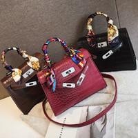 krokodil schulter handtasche groihandel-2019 Crossbody Taschen Für Frauen Leder Luxus Handtasche Berühmte Designer Marke Bolsa Feminina Krokodil Umhängetasche Damen Sac Main