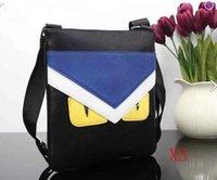 mens cross body kuriertaschen groihandel-Designer New gelbe Augen Herren Taschen Marke beiläufige Schultertaschen Herren Messenger Bag-Qualität PU-Umhängetasche