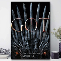 Wholesale hd landscape painting images for sale - Group buy The Eighth And Final Season Of Game Of Thrones Canvas Painting HD Wall Picture Poster And Print Decorative posters image Home Decor