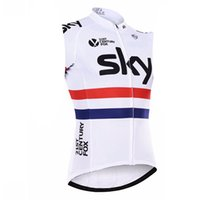 Wholesale sky cycling online - SKY summer sleeveless Quick drying cycling jersey Racing bicycle Mountain Pro team Bike Clothing Maillot Ropa Ciclismo