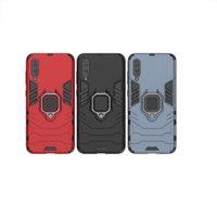 iphone carro 3d venda por atacado-Caso Armadura Anel 3D para Samsung Galaxy A60 A50 A70 para Samsung Galaxy A40 A30 A20 A10 Car Holder Telefone caso capa Voltar Fundas