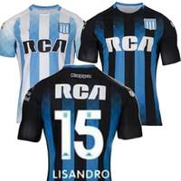 argentinien zuhause großhandel-^ _ ^ 2019 Argentina Racing Club Fußball Jersey Heim New Argentina Heimtrikot Adult Kit Kinder MESSI DYBALA DI MARIA AGUERO HIGUAIN